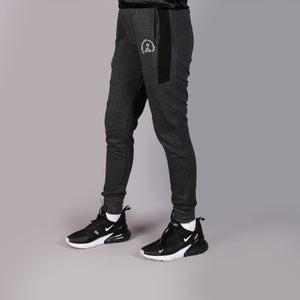 Charcoal Grey Trouser With Black Panel