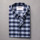 Blue And White Multi Checks Shirt
