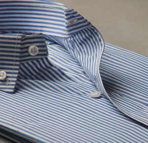Soft Blue Stripes Linen Shirt