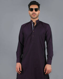 Two Tone Purple Kurta Pajama