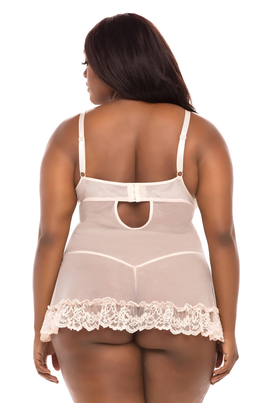 The Valentine Soft Cup Babydoll in Silver Peony