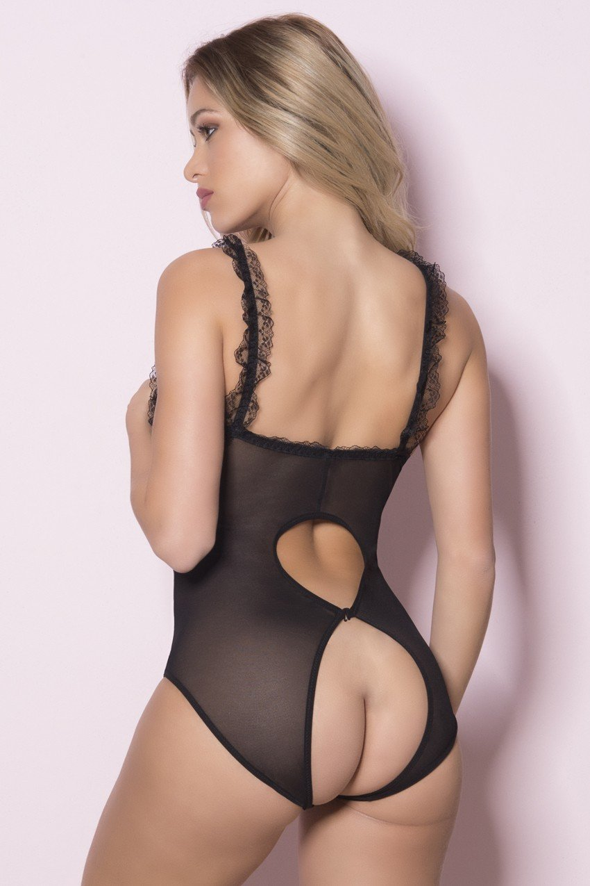 Open Cup Stretch Teddy - Unlucky Lingerie
