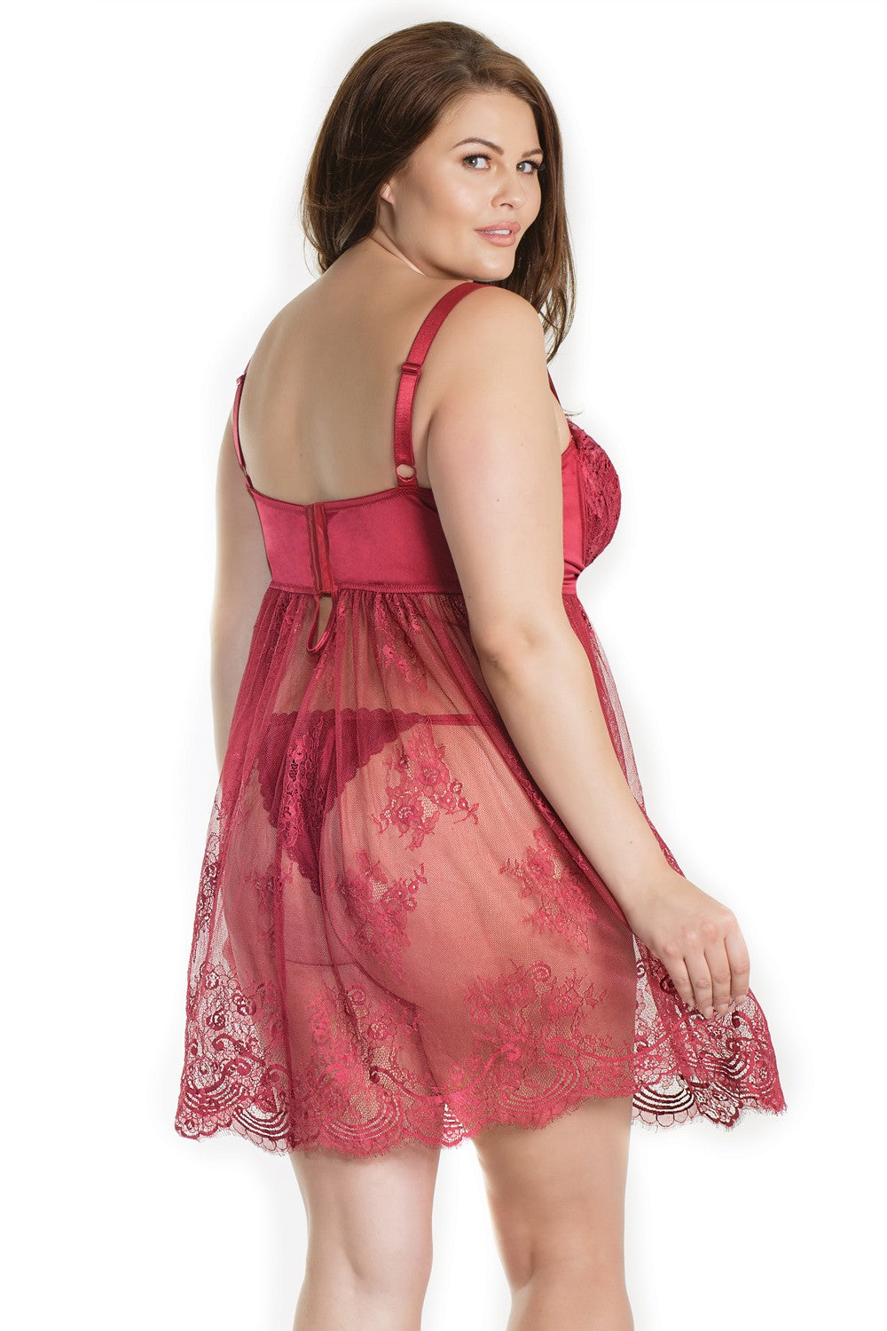 The Merlot and Lace Babydoll