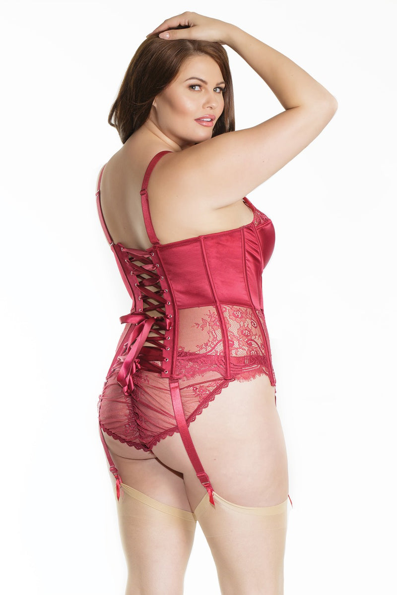 The Merlot and Lace Bustier