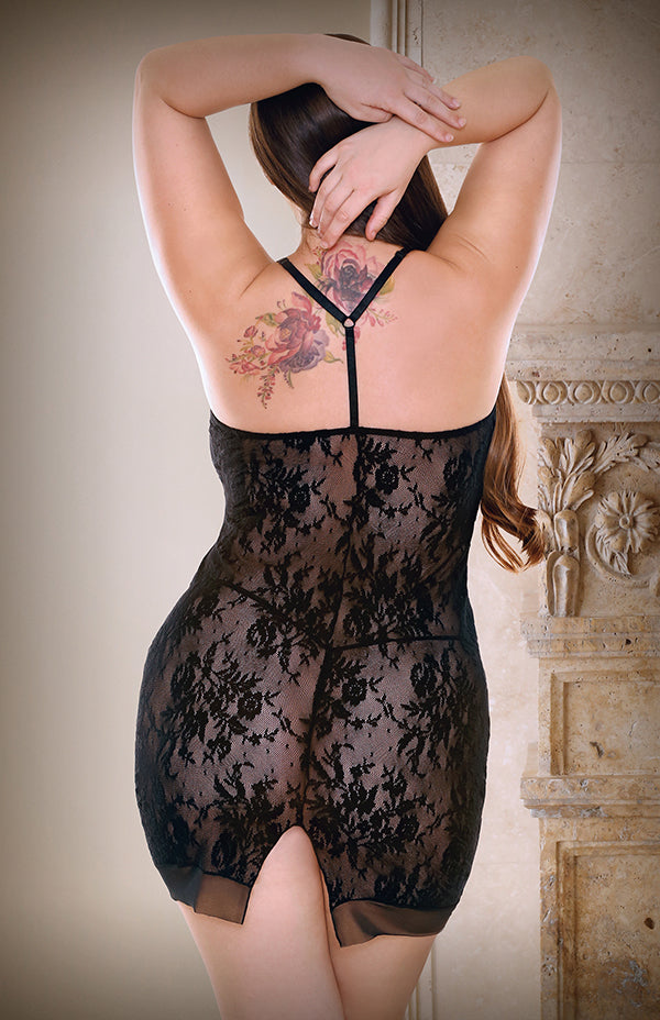 The Isabelle Black Lace Slip
