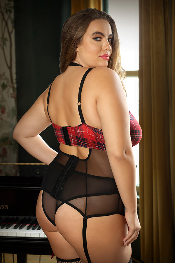 The Shannon Harness Bustier in Plaid