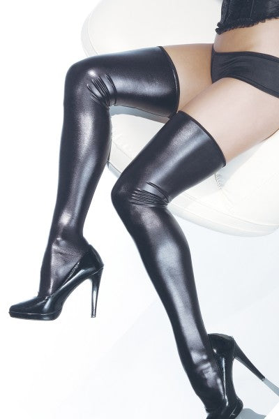 The Darque Thigh Highs - Wet Look