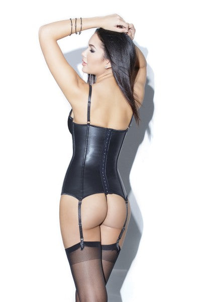The Peek Cup Bustier in Black