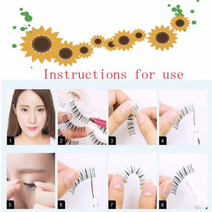 New Natural Cross false eyelashes