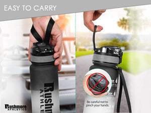 Frosted Water Bottle 1L/32OZ BPA Free Functional Design Portal Durable