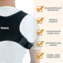 Load image into Gallery viewer, Adjustable Back/Lumbar Support Brace Lite, For Men & Women Posture Corrector