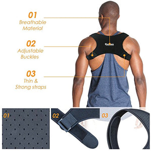 Adjustable Back/Lumbar Support Brace Lite, For Men & Women Posture Corrector