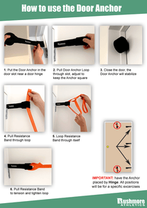 Door Anchor Resistance Bands - At Home Gym Fitness Eqiupment
