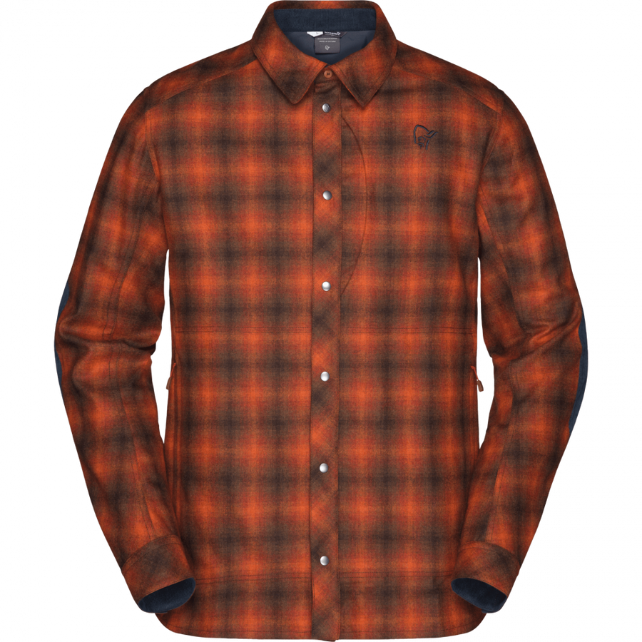 Tamok Wool Shirt M's - Rooibos Tea / M
