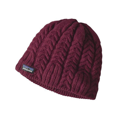 Cable beanie - Magenta