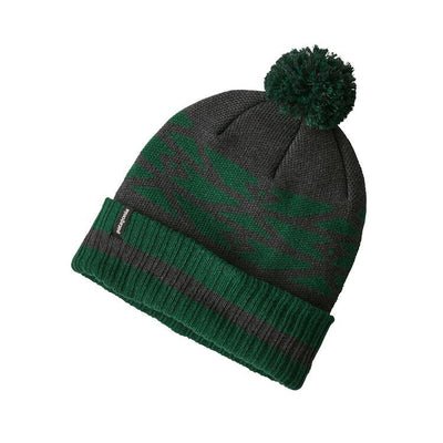 Powder Town Beanie - Geo Site: Micro Green
