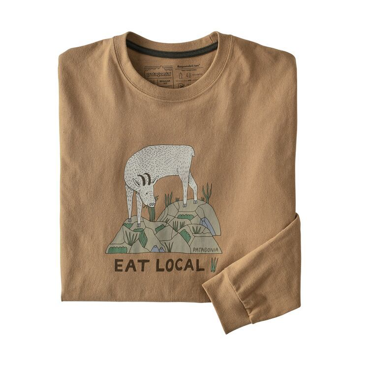 Men's Long-Sleeved Eat Local Goat Responsibili-Tee®