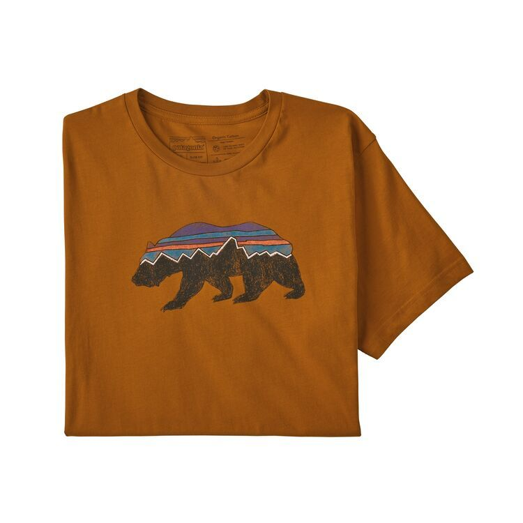 M's Fitz Roy Bear Organic Cotton T-Shirt