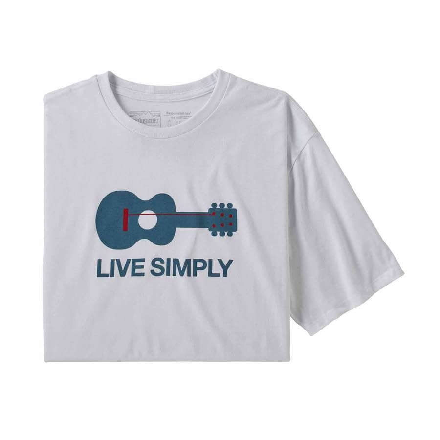 M's Live Simply Guitar Responsible Tee
