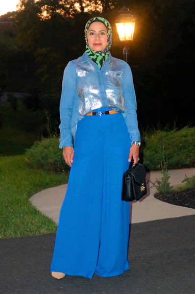 simply zeena lapis blue wide leg pants