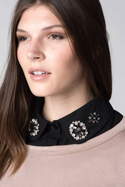 Black Rhinestone Collar