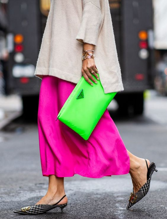 Neon Prada Clutch | Zeena Uncovered
