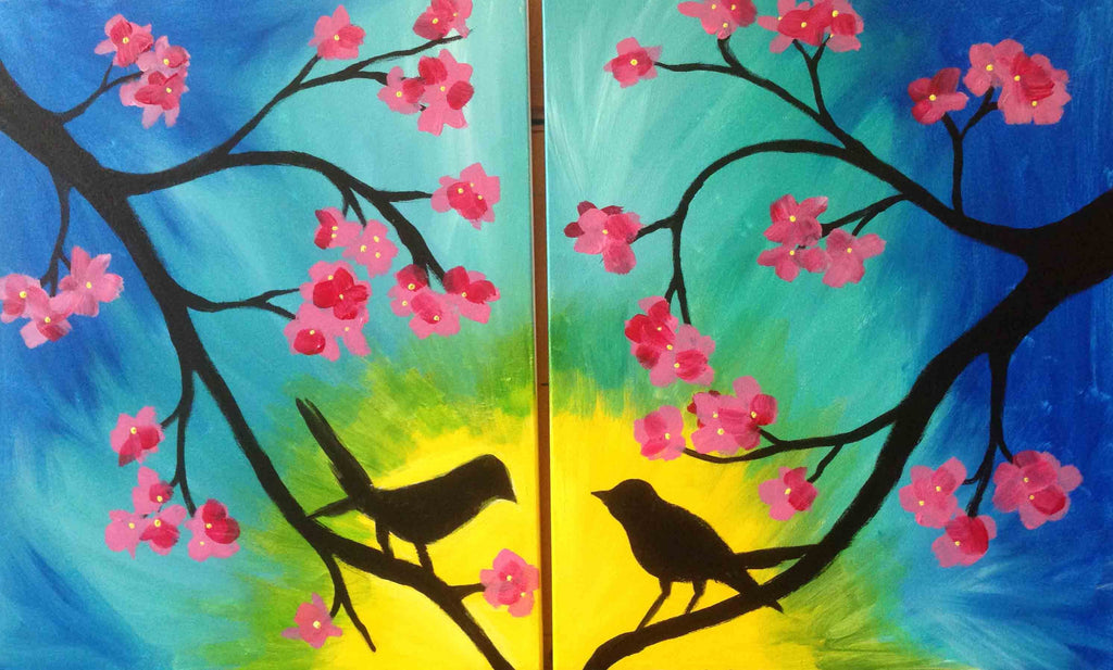 Paint Night - $40 or Less At Home Date Night Ideas | Zeena Uncovered