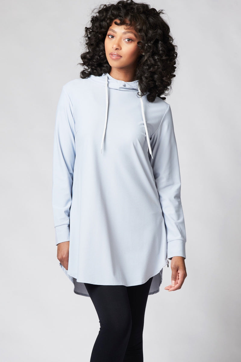 Funnel Neck Active Top - Earl Gray