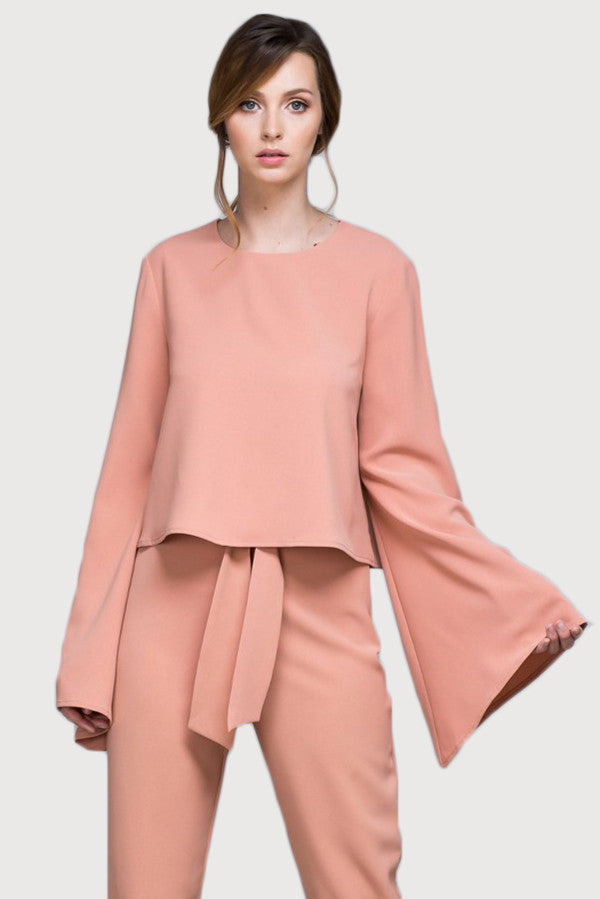 Bell-Sleeve Top - Blush