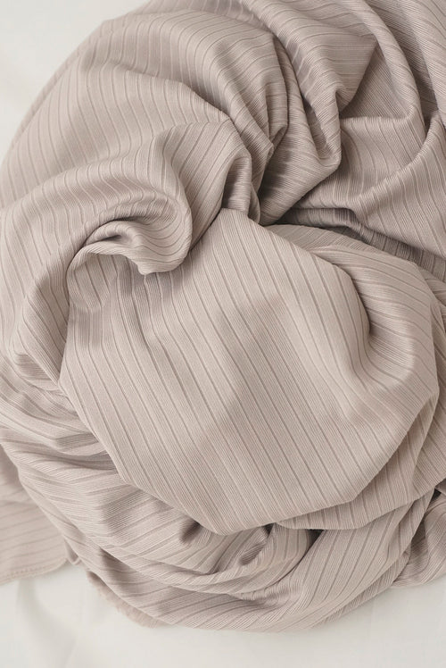 Satin Ribbed Jersey Wrap - Bisque