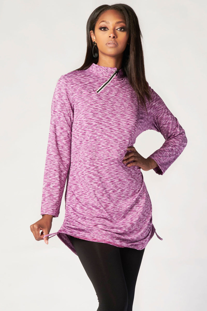 Serene Active Top - Pur/Wht