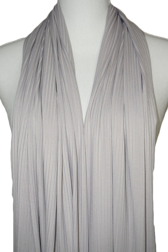 Satin Ribbed Jersey Wrap - Silver Lining