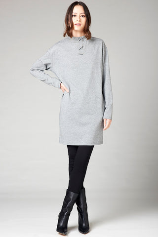 Elbow Patch Tunic - Purple