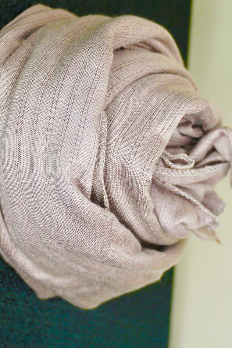 Striped Jersey Hijab - Hazelnut