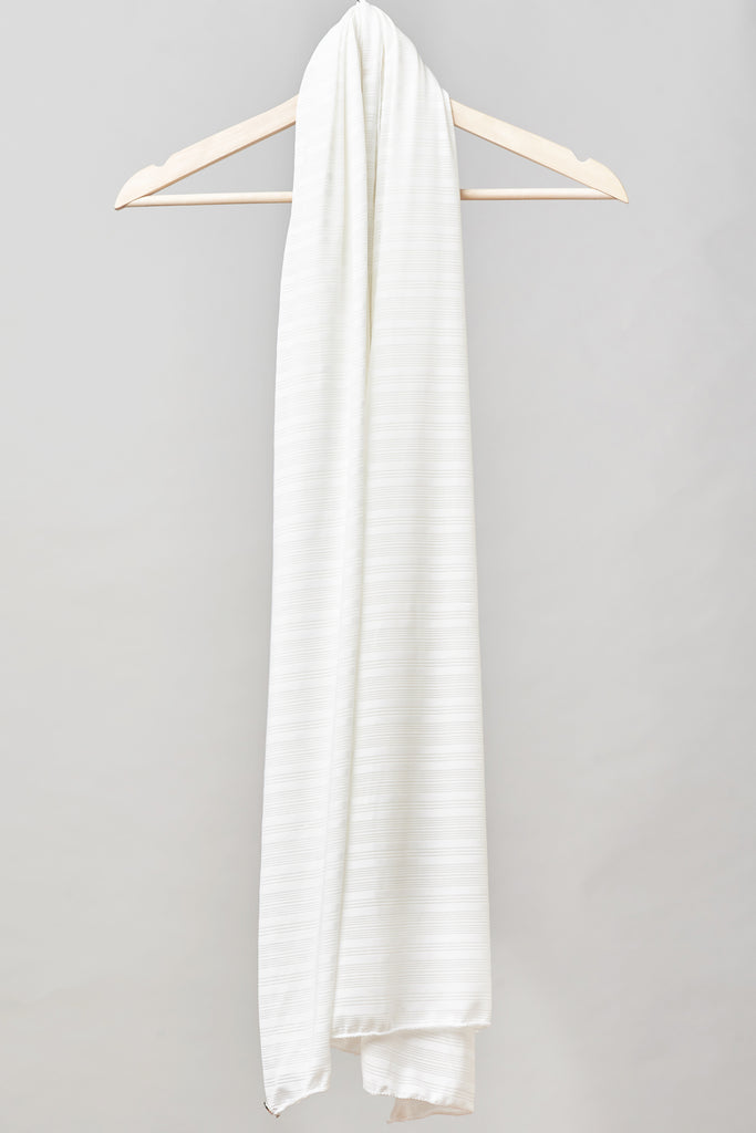 Satin Ribbed Burnout Wrap - Ivory