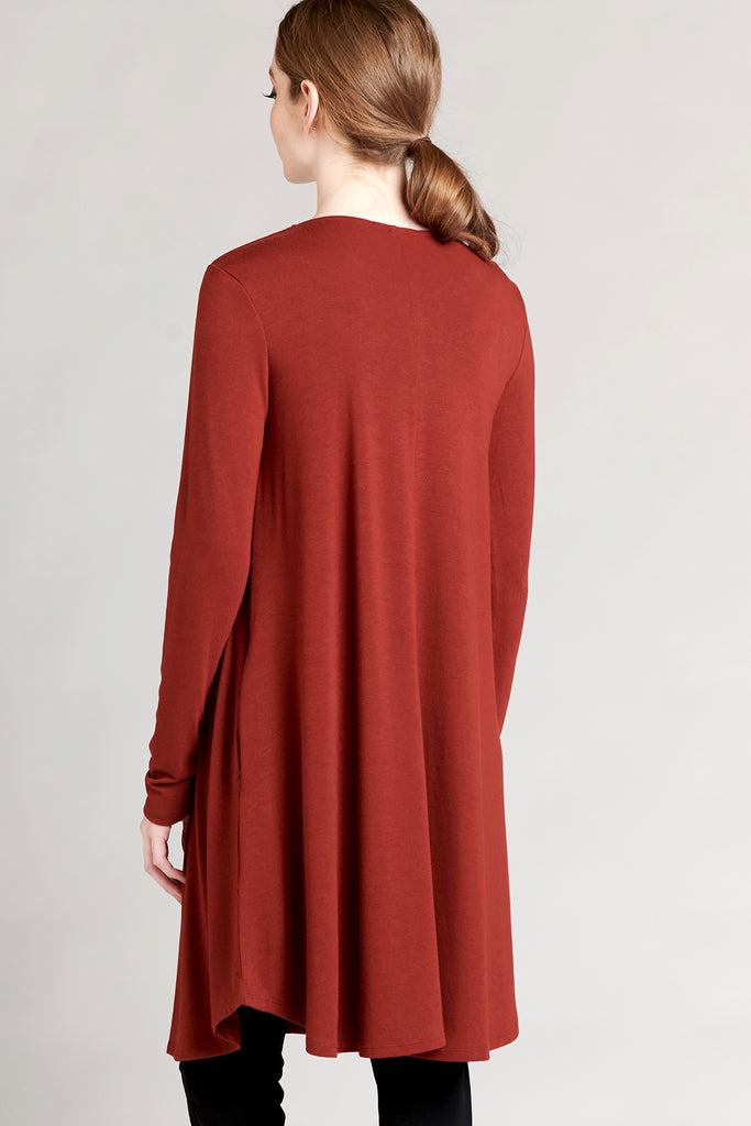 Long Tee Dress - Fire
