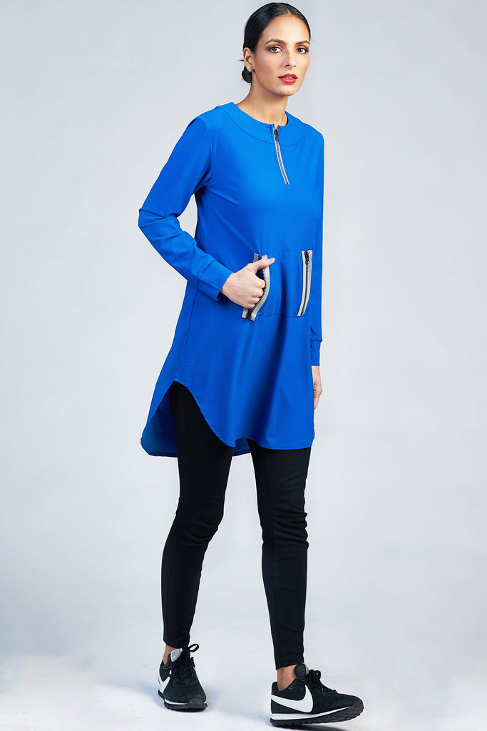 Fresh Zip Active Top - Royal
