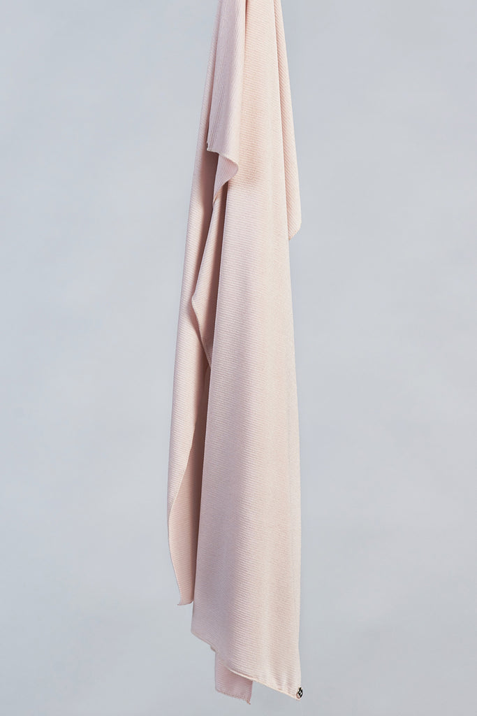 Matte Ribbed Jersey Wrap - Blush