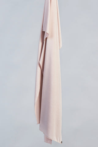 Satin Ribbed Jersey Wrap - Gravel