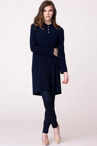 Parisian Hi-lo Tunic - Soft Navy