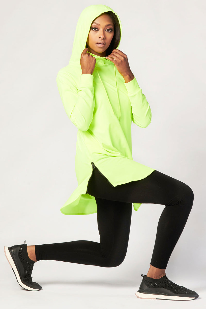 Funnel Neck Active Top - Neon