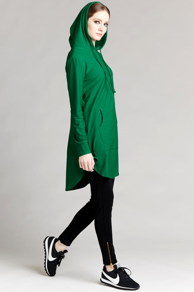 Hoodie Active Top - Hunter Green