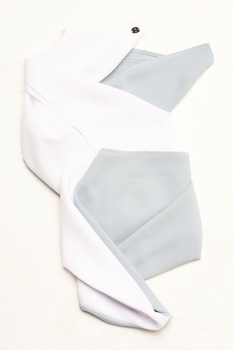 Color Block Hijab - Pale Blue