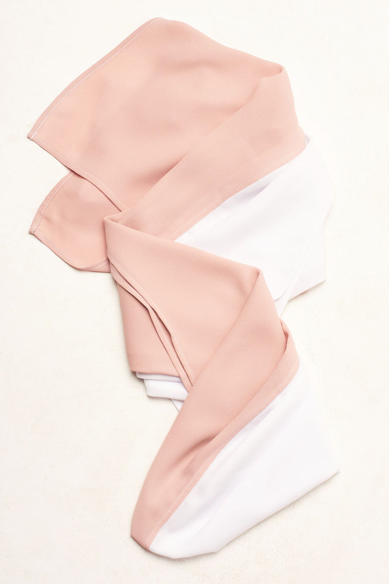 Color Block Hijab - Pale Pink