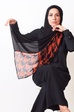 Color Block Hijab - Houndstooth