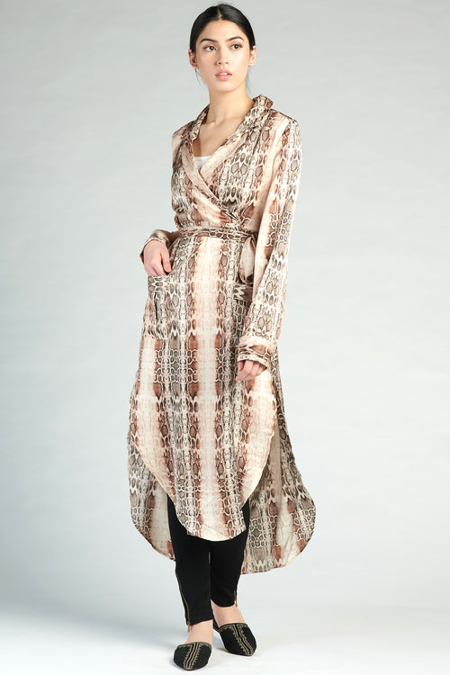 Belted Wrap Dress - Python