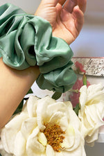 Volumizing Scrunchie - Sage Satin