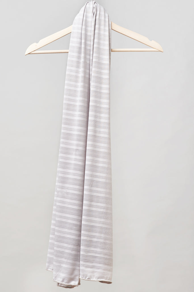 Satin Ribbed Burnout Wrap - Silver Lining