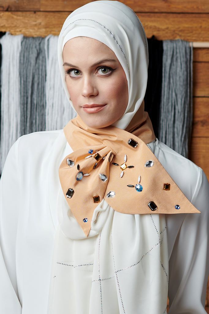 Tan Key Hole Scarf