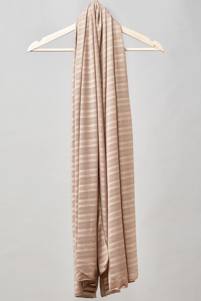 Satin Ribbed Burnout Wrap - Tan